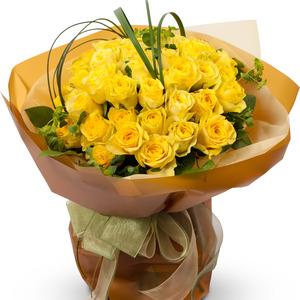 노랑 장미 꽃다발