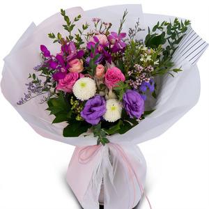 핑크 바이올렛 꽃다발