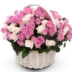핑크톤 꽃바구니