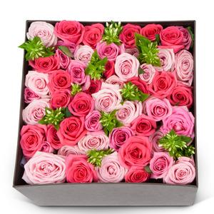 핑크 플라워 박스